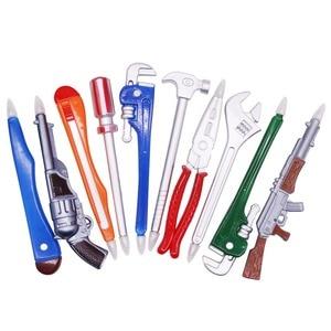 Image 1 - 2 шт. 0,5 мм Шариковые канцелярские принадлежности для творчества ручка студенческие ручки обучающие вопросы обучение интеллектуальное развитие школьные принадлежности