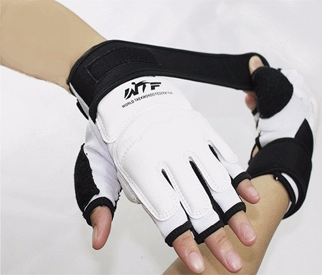 Taekwondo Gloves Fighting Hand Protector WTF Approved Martial Arts Sports Hand Guard PU Leather Fitness Boxing Gloves