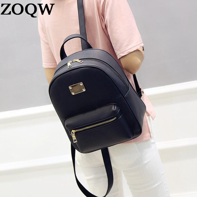 Fashion Backpack Female Pu Leather Women Bag Backpack Shool Bags For Teenagers Girls Travel Mochila Sac A Dos Zoqw Wyq157