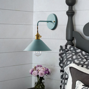 Image 3 - Modern simple iron wall lamp country home deco wall light LED with 7 colors for bedroom living room restaurant cafe shop aisle