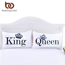 BeddingOutlet Queen King Pillowcase Decorative Body Pillow Case Plain Design Qualified Bedclothes 20inchx30inch Bedding Valentin