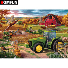HOMFUN 5D DIY Diamond Painting Full Square/Round Drill Tractor scenery Embroidery Cross Stitch gift Home Decor Gift A09183 homfun 5d diy diamond painting full square round drill tractor scenery embroidery cross stitch gift home decor gift a09181