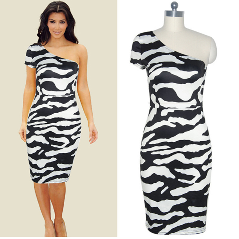 Popular Zebra Cocktail Dress-Buy Cheap Zebra Cocktail Dress lots ...