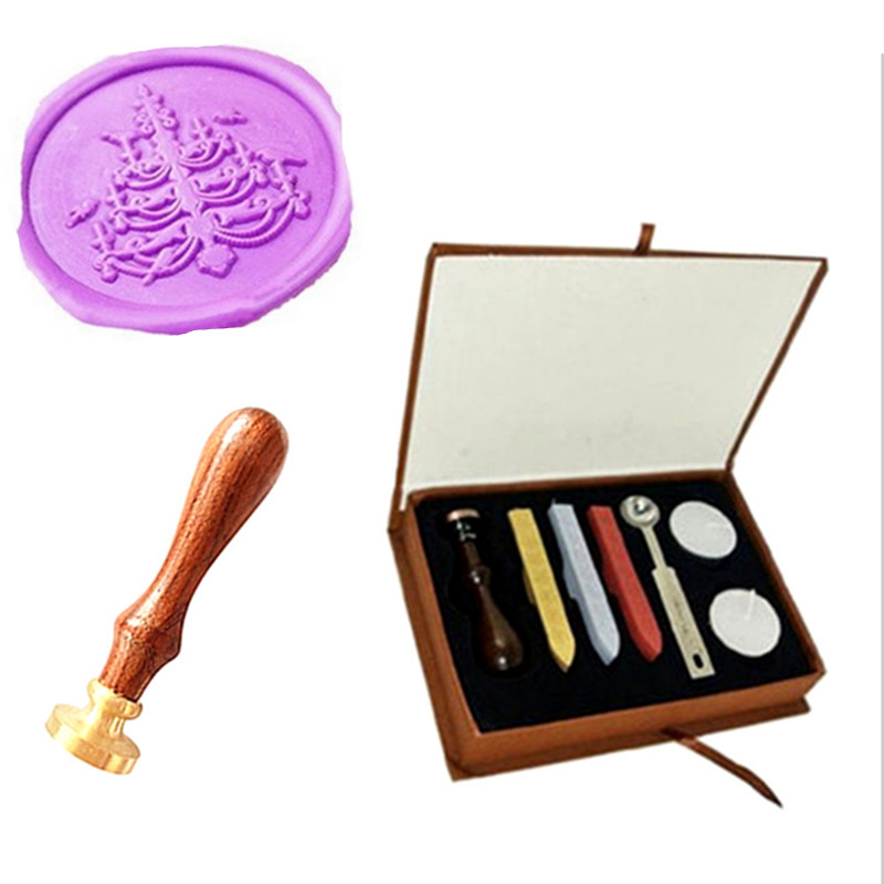 Vintage Candlestick Custom Wedding Invitation Wax Seal Sealing Stamp Rosewood Handle Sticks Melting Spoon gift Box Set Kit big copper spoon big large size stamp spoon vintage wooden handle brass spoon for sealing wax stamp wax stick spoon
