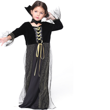 Queen Cosplay Costume Children Holiday Performance Show Black Clothing Girl Drama Role Playing Dress Halloween Costumes for Kids kids cosplay star wars the force awakens imperial stormtrooper role playing costumes uniforms performance performance clothing