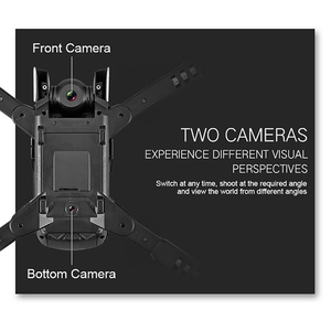 Image 4 - R8 drone 4K HD aerial camera quadcopter optical flow hover smart follow dual camera remote control helicopter with camera