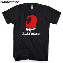 2017 DEADPOOL PLAYDEAD T-shirt Mens Printed New Arrival Cartoon Tee Cotton T shirts O-neck Big Size Black Fashion & Causal Tops