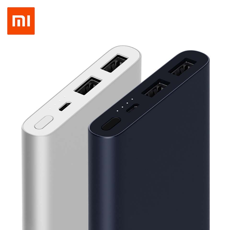 Mi Xiao mi Power Bank 10000 mah 2 Externe Batterie tragbare lade Dual USB Ausgang 18 WQuick Ladung 10000 mah power für telefon