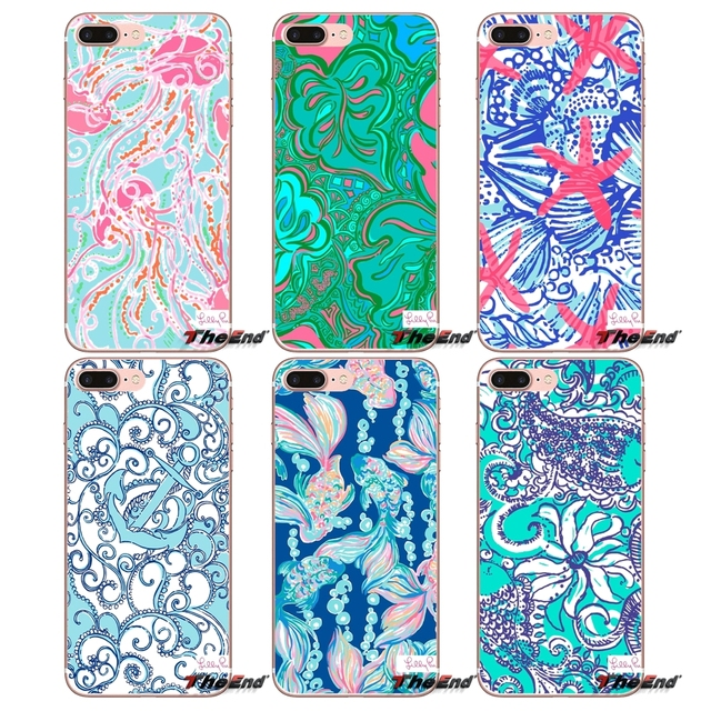 For Sony Xperia Z Z1 Z2 Z3 Z5 compact M2 M4 M5 E3 T3 XA Aqua LG G4 G5 G3 G2 Mini Capa Lilly Pulitzer Nice Tail Clear Case Design