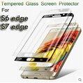 9 H Protector de Pantalla 3D cubierta completa a prueba de Explosiones de Cristal Templado de Cine para samsung galaxy s7 edge s6 edge guardia pelicula de vidro