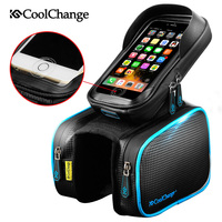Coolchange Bike Bicycle Ride Frame Front Head Top Tube Bag Double IPouch Cycling Pannier For 5