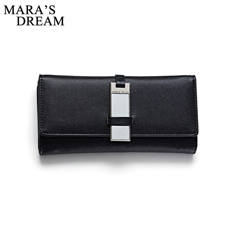 Mara's Dream 2017 New Women Wallets female cards holders metal mirror hasp PU wallet coin purses girl Long Wallet lady wallets 2017 new ladies purses in europe and america long wallet female cards holders cartoon cat pu wallet coin purses girl