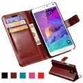 Carteira pu leather case para samsung galaxy note 4 n9100 coque luxo casos de telefone bag capa flip para samsung galaxy note 4