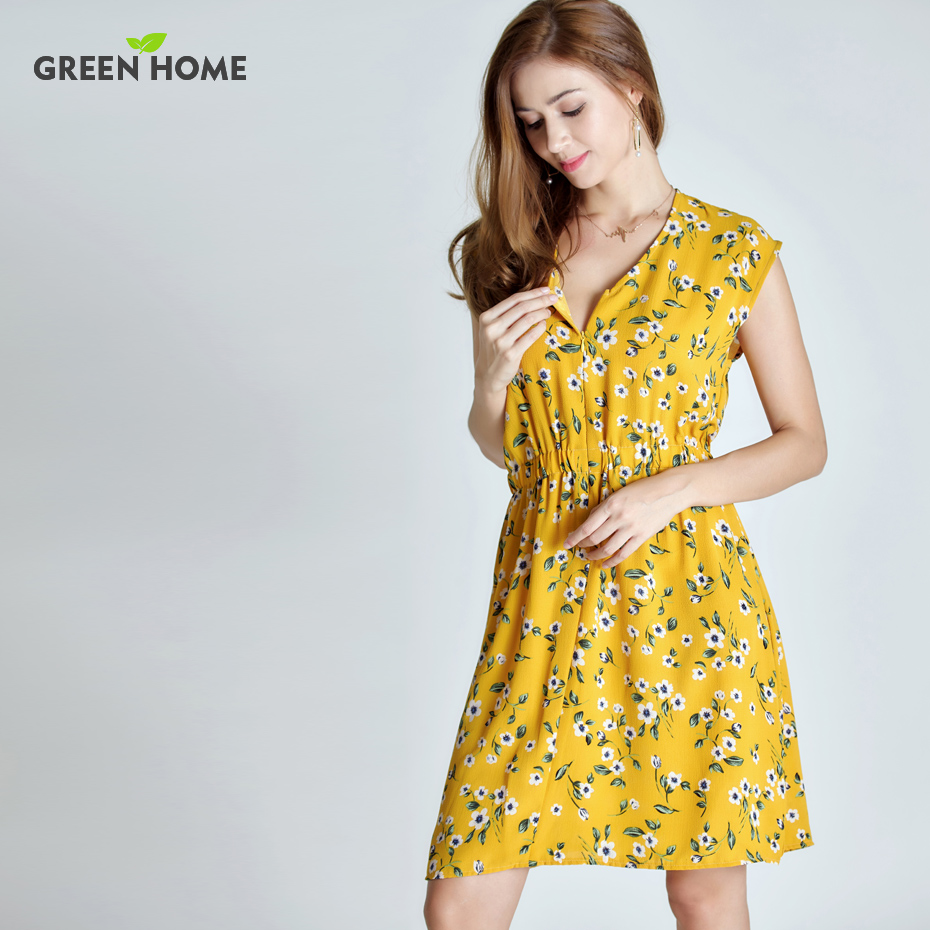 3df9382007 Green Home Floral Maternity Nursing Dress Four Colors Pregnancy Short Dress  For Pregnant Women -in Dresses from Mother   Kids on Aliexpress.com