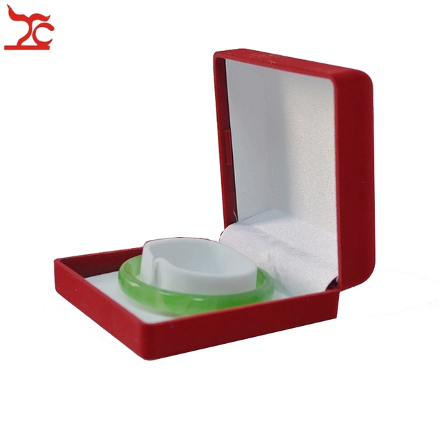 High Quality 5Pcs Red Velvet JadeCrystalSilverGoldIndian