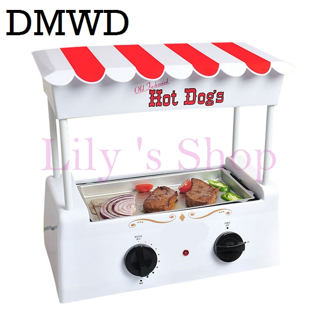 Electric Sausage Machine Multifunction American hot dog kebab machine teppanyaki barbecue grill steak DIY hamburger baking maker 1pc hot sale 100%quality guaranteed doner kebab slicer two blades electrical kebab knife kebab shawarma gyros cutter