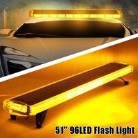 Audew 51 96 LED Roof top LED Emergency Recovery Beacon Wrecker Warning Flash Strobe Work Light Bar Amber Truck Traffic Fog Lamp
