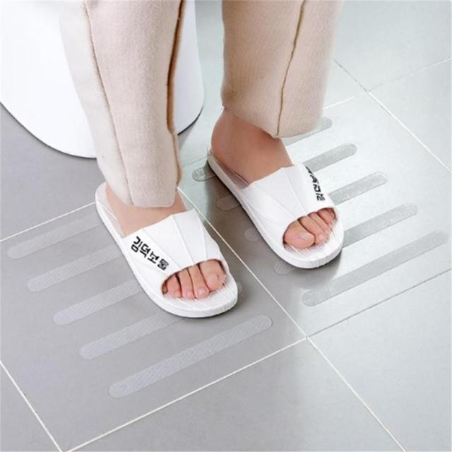 10 pz Anti Slip Da Bagno Grip Adesivi Antiscivolo Doccia Strisce Pavimenti In Na