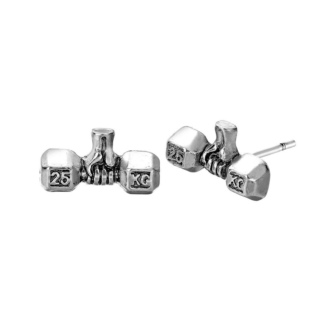 Barbell earrings jewellery