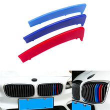 For BMW 1 Series Front Grille Trim Sport Strips Cover Power Performance Stickers for 2004-2011 E81 E82 E87 E88 116 118 120 130