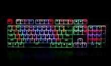 Everglide E300 RGB Подсветкой Antighosting Двойной Выстрел PBT Колпачки 104 Ключи Gateron MX Черный/Синий Переключатели
