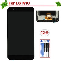 for LG K10 K420N K410 K430 K430DS LCD Display With Frame Touch Screen Digitizer Assembly Replacement for LG K420N Lcd 5.3
