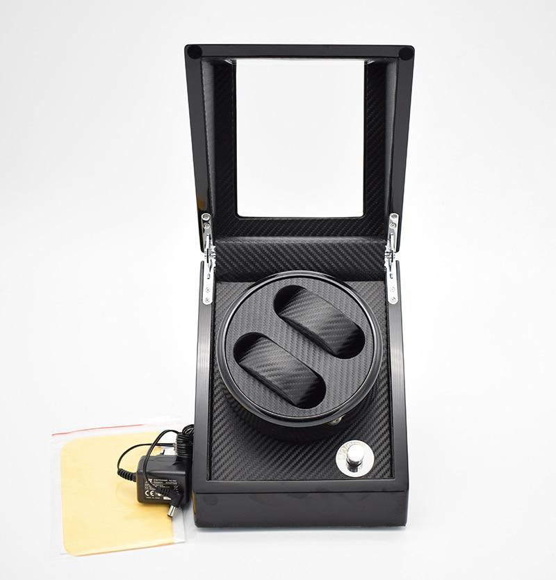 Автоматические деревянные часы Winder лак представляет механические наручные часы дисплей повернуть коробка Питание от батареи/адаптер мабути мотор
