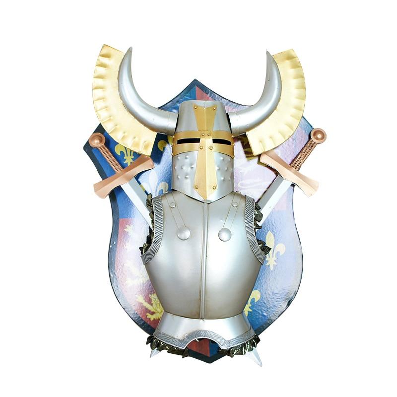 Скандинавское украшение дома металлический самурайский щит подвесные украшения креативные Металлические ремесла магазин Декор на стену для дома украшения аксессуары