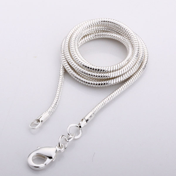 Hot !!! Wholesale Price silver snake necklace 2mm,925 ...