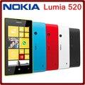 Оригинал Nokia Lumia 520 двухъядерный 3 г WIFI GPS 5-мп камерой 8 ГБ хранения 4.0 дюймов разблокирована мобильных телефонов