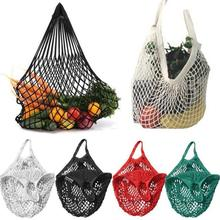 2019 New Mesh Shopping Bag Reusable String Fruit Storage Handbag Totes Women Net Woven Shop Grocery Tote