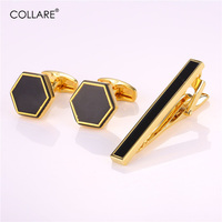 Collare Cufflinks For Mens With Tie Clip Gold/Silver Color Luxury Accessories Cuff Buttons Tie Pin Wholesale Men Jewelry S293