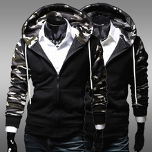 The new camouflage stand collar men Trainning Exercise jacket cardigan Slim camouflage sweater manufacturers wholesale