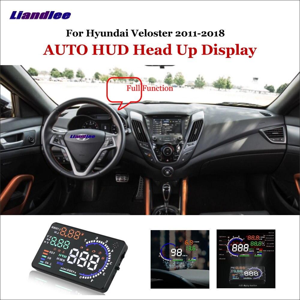 Liandlee Função Completa Carro HUD Cabeça Up Display Para Hyundai Veloster 2011-2018 Condução Segura Tela Projetor de Dados do SISTEMA OBD brisa