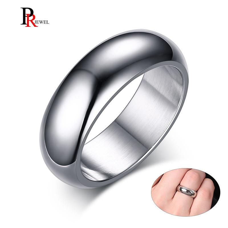 Clássico 7mm bandas de casamento de aço inoxidável anéis básicos para homens mulher conforto caber eua tamanho 6 a 13
