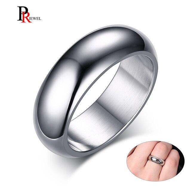 Clássico 7 milímetros Faixas de Casamento Do Aço Inoxidável Anéis para Homens Mulher Comfort Fit Tamanho EUA 6 Básica para 13
