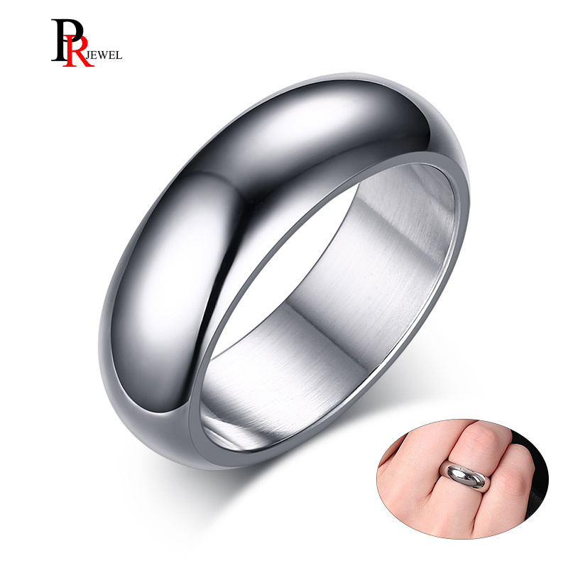 Classic 7mm Stainless Steel Wedding Bands Basic Rings for Men Woman Comfort Fit US Size 6 to 13