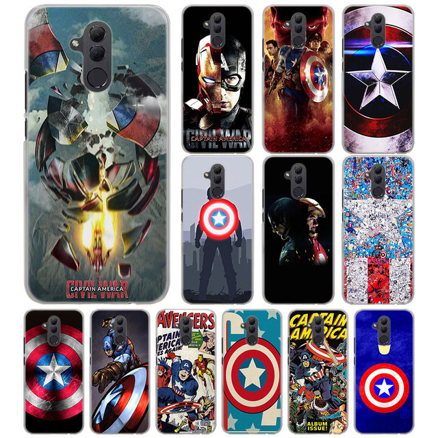 US $1 98 38% OFF marvel Captain America Phone Case for Huawei Mate 20 Pro  20 Lite 10 Pro hard PC case for Huawei Mate 10 Lite Case Cover-in