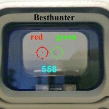 Тактический 558 коллиматор голографический прицел Red Dot оптический вид рефлекс для дробовика с мм 20 мм рельсовые крепления для страйкбола и Softair
