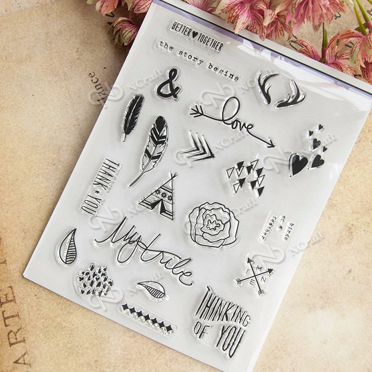 The Story Begins Transparent Clear Silicone Stamp/Seal for DIY scrapbooking/photo album Decorative clear stamp sheets lovely elements transparent clear silicone stamp seal for diy scrapbooking photo album decorative clear stamp sheets