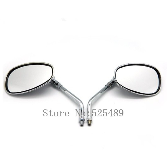 2x Motorcycle Chrome Rearview Side Mirrors For Honda Shadow Rebel 250 Nighthawk VT VTX 1300 1800 CB 500 550 600 650 750 900 1000