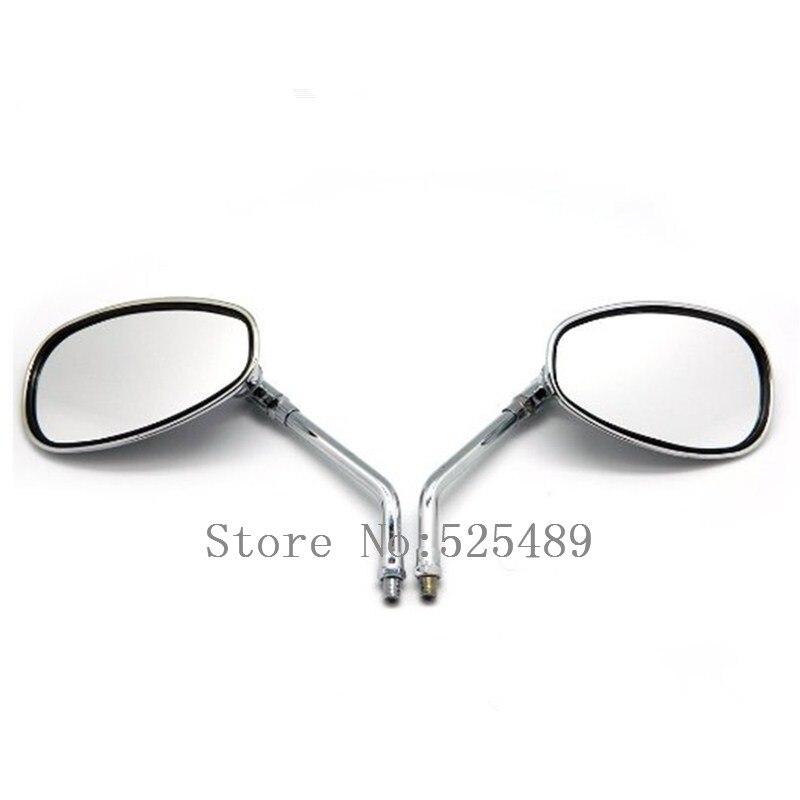 2x Motorcycle Chrome Rearview Side Mirrors For Honda Shadow Rebel 250 Nighthawk VT VTX 1300 1800 CB 500 550 600 650 750 900 1000