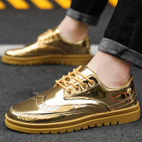 Men's vulcanize shoes Size large 39 46 Fashion Golden Sneakers for boys Hard wearing Non slip Mens shoes casual