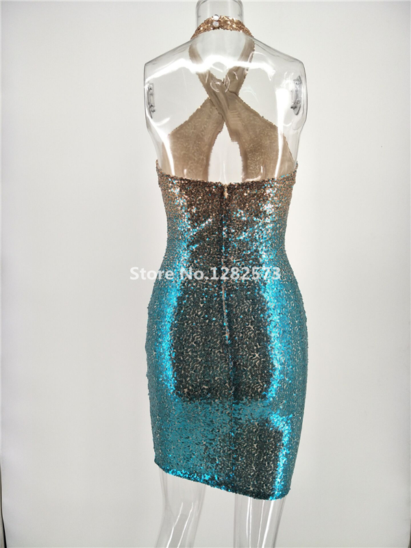 In Stock Sexy Halter Cocktail Dresses Mini Elegant Short Sequined Formal  Dress Cheap Simple Backless Sparkly Women Gown. 1 (3) 1 (2) ... daaeddaee7a5