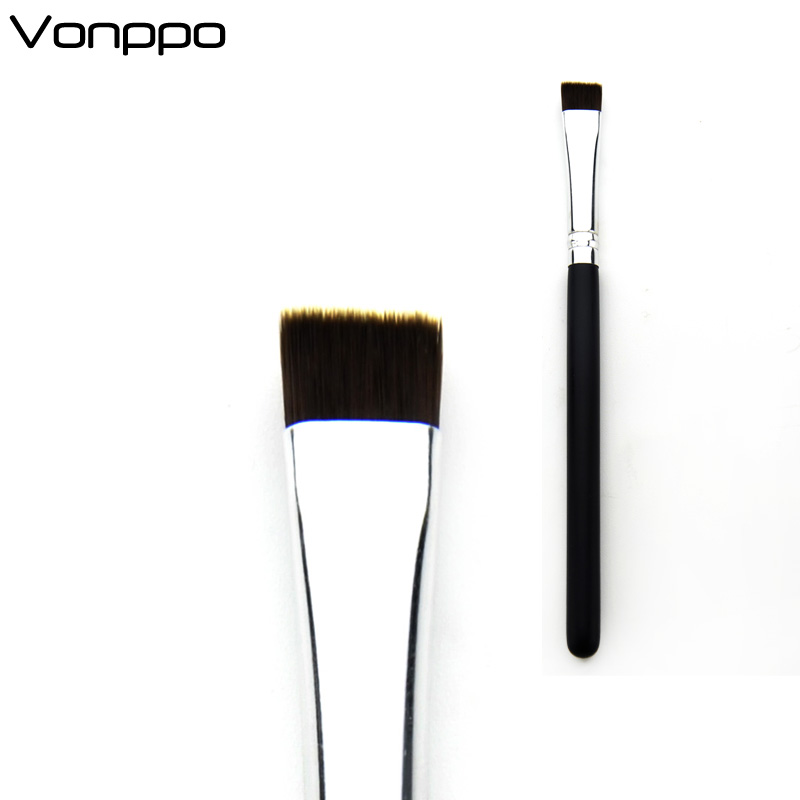 Vonppo High Quality Professional Eye Makeup Brush Silver Flat Definer Brush 212