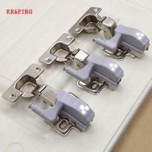 KK&FING 5PCS LED Cabinet Hinge Light Kitchen Cupboard Bedroom Wardrobe Closet Sensor Touch Lamp 0.25W Inner Lighting
