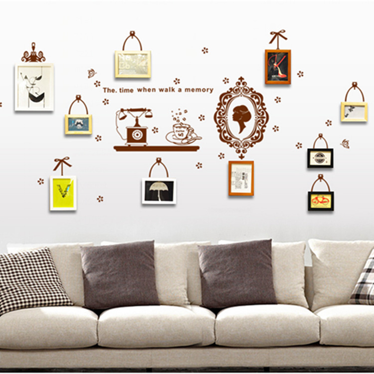 №Maruoxuan Hot Photo Frame Memory Wall Stickers Living Room Bedroom ...