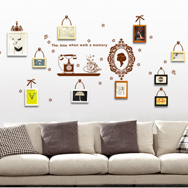 Maruoxuan Hot Photo Frame Memory Wall Stickers Living Room Bedroom Painting Tv Background Wall Decals Home Decor Poster