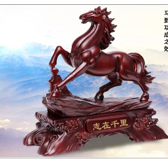 resin crafts big business gifts Make horse horse handicraft become rich adornment business to open business make money successfu