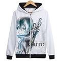 Sword Art Online Cosplay hoodie Kirito Kirigaya Kazuto asuna Hooded Sweatshirt hoodies Anime SAO Jacket Coat hoody 21 styles